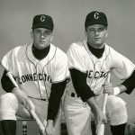 Dad Jim E. '66 (ED) and Uncle Tom '67 (BUS) on the Huskies' 1965 College World Series team