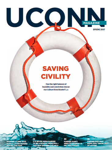 Saving Civility - Cover of UConn Magazine Spring 2017