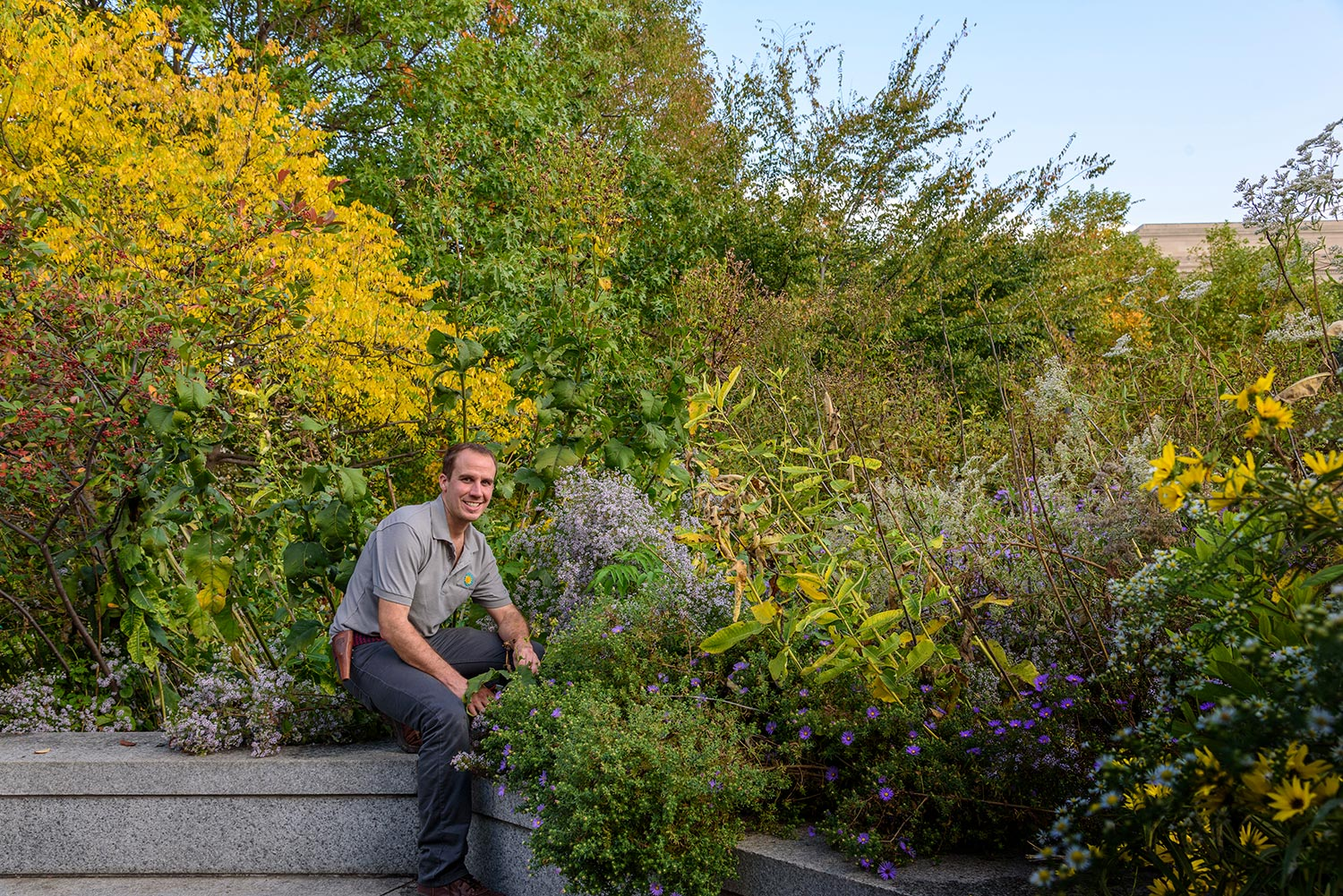 Alum James Gagliardi is a supervisory horticulturalist at the Smithsonian Gardens in Washington, D.C.