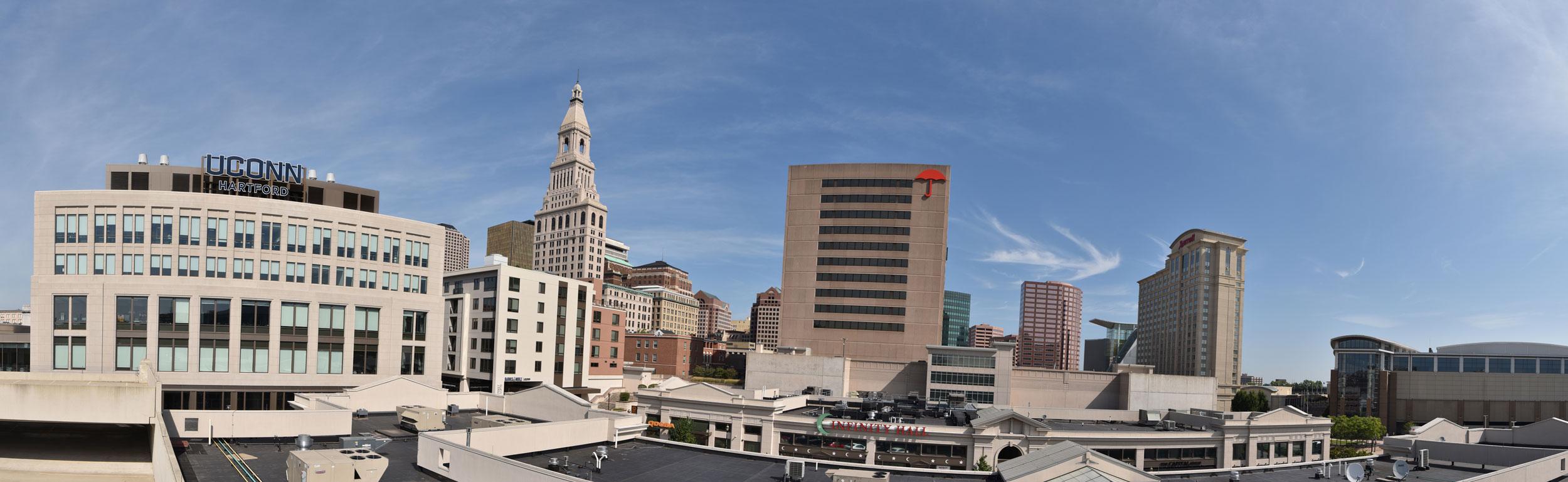 panoramic of city of Hartford