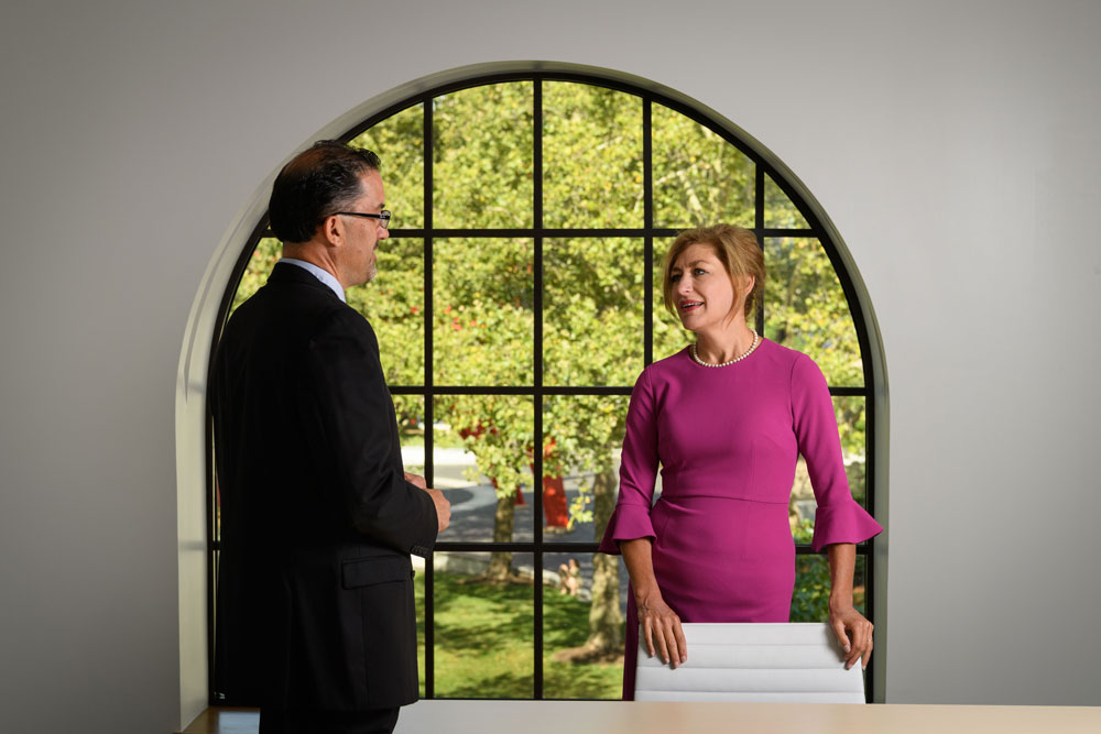 President Herbst and Director Mark Overmyer-Velazquez