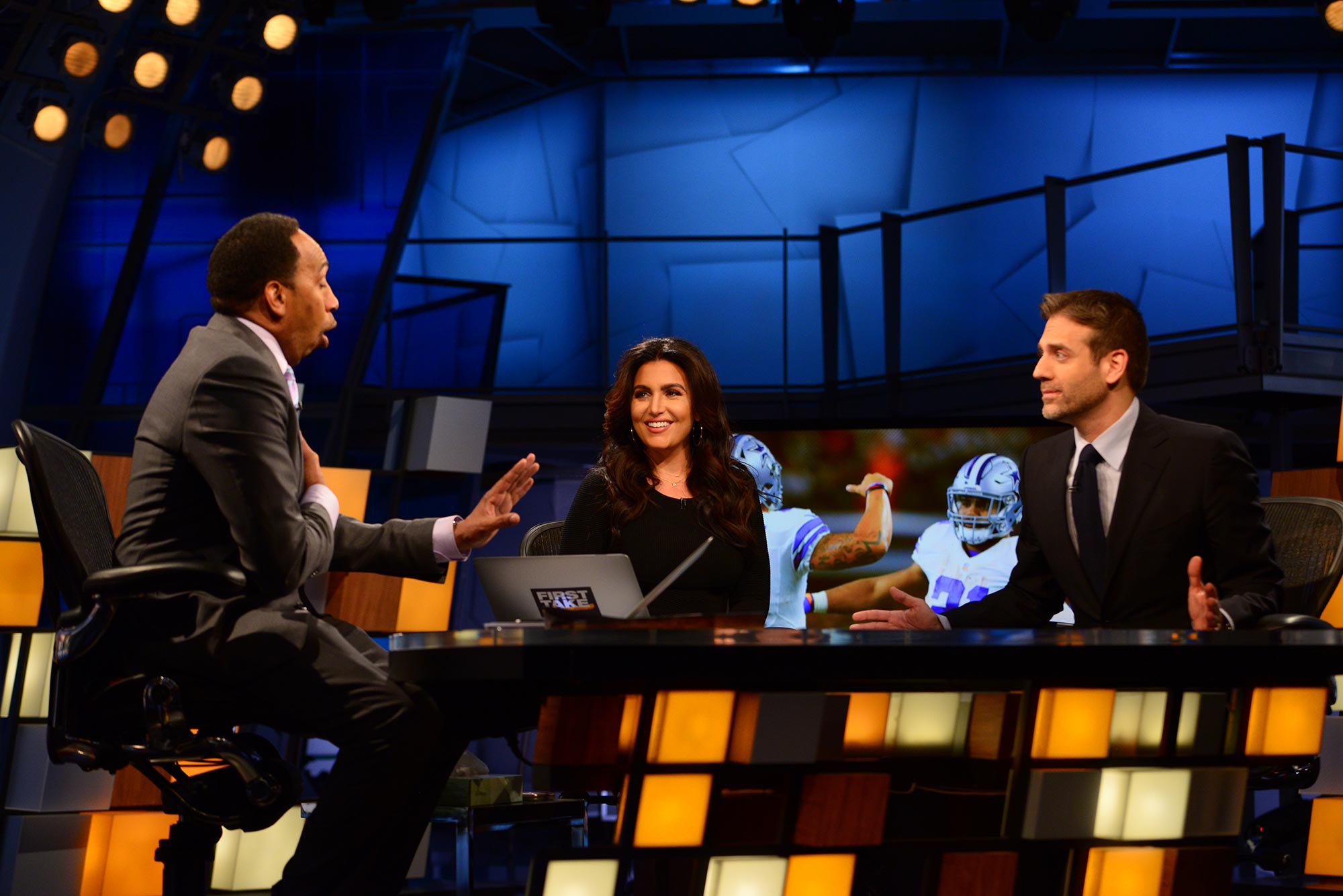 Molly Qerim on the set of First Take