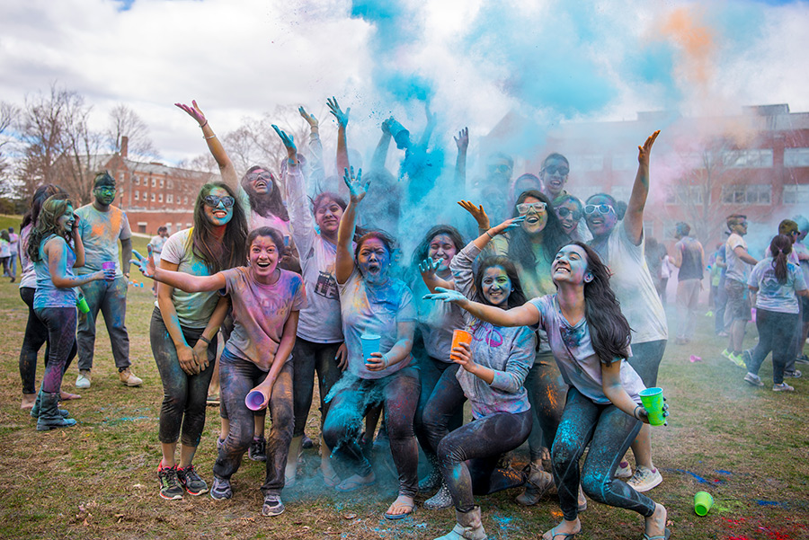students celebrate Holi - 2017