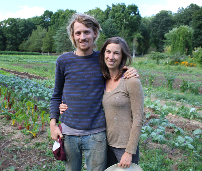 Charlotte Ross and Jonathan Janeway of Sweet Acre Farm