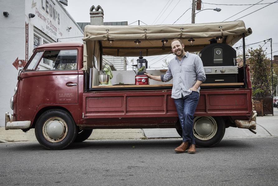 Joel Gamoran's kitchen van