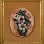 painting of framed bouquet of flowers