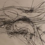 Image of black pencil lines on off white paper