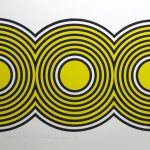 Print of three yellow and black circles