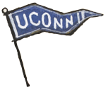 UConn pennant illustrated by Chris Cater