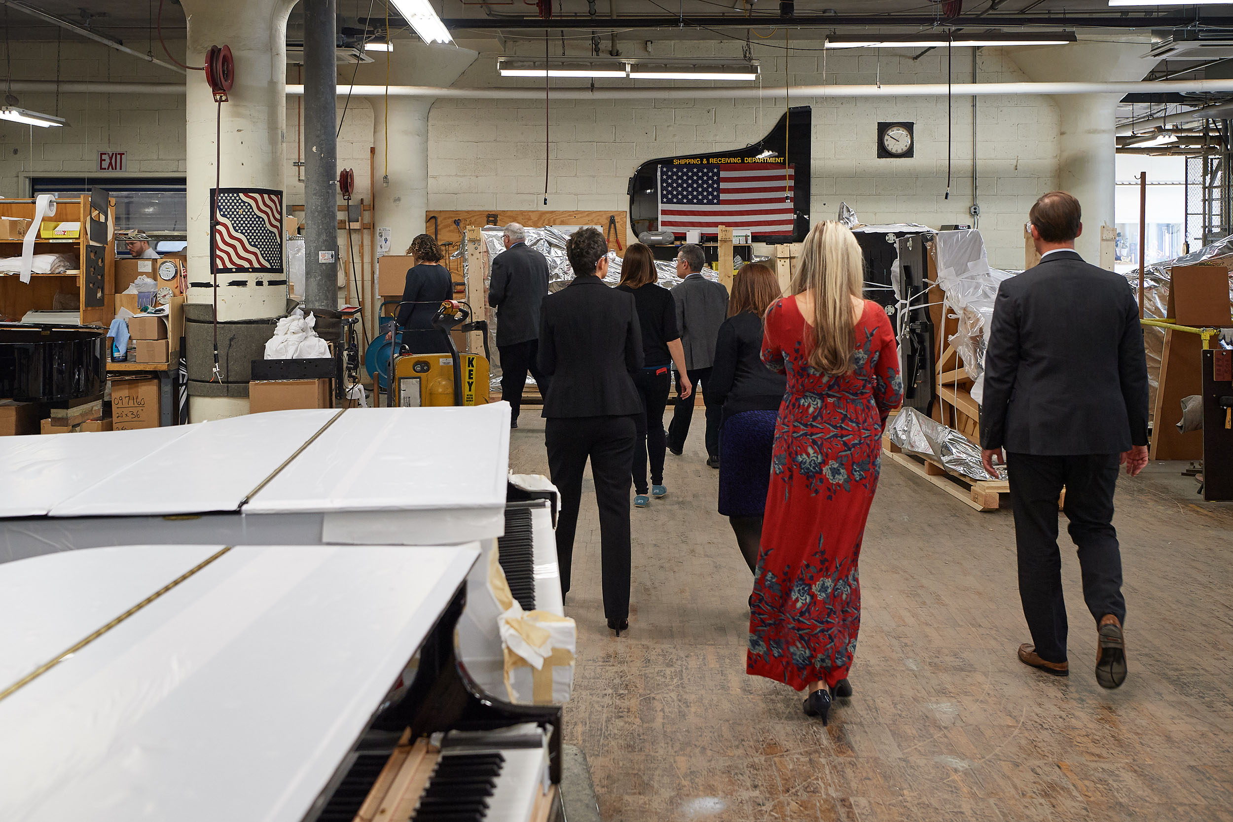 A tour of the Steinway & Sons factory on Oct. 18, 2017.