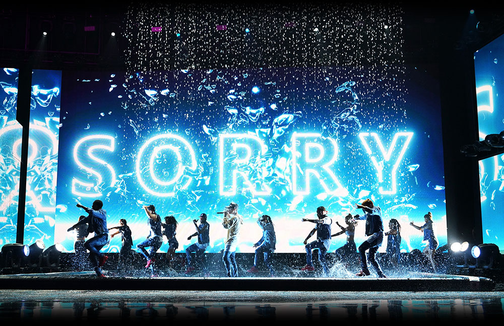 The stage at Justin Beiber's Sorry Tour