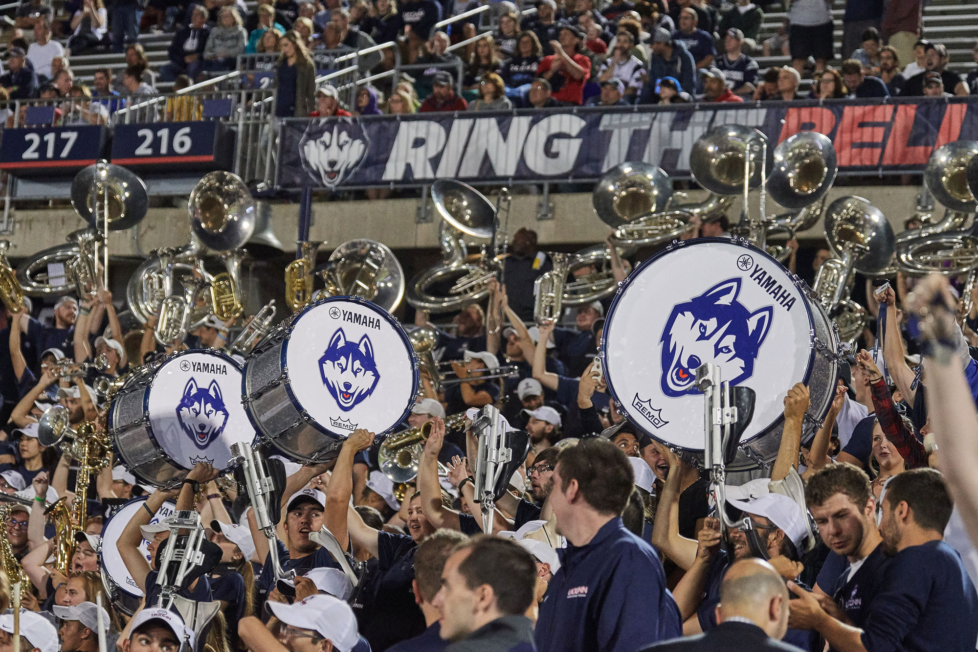 The UConn Marching Band at Rentschler Field