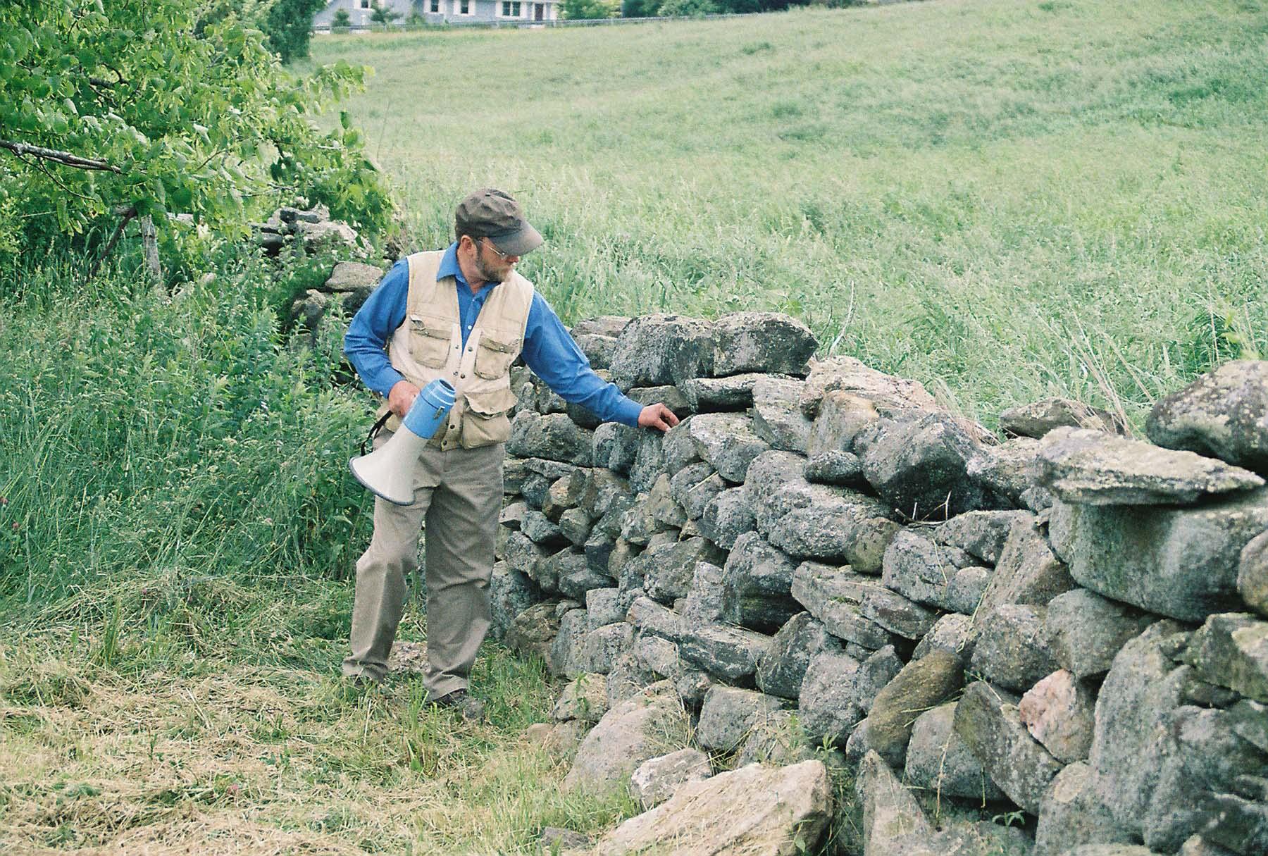 Robert Thorson and stone wall