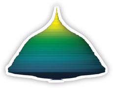 graph element depicting pyramid mountain shape