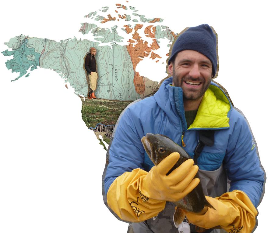Photo illustration of Mark Urban holding a fish