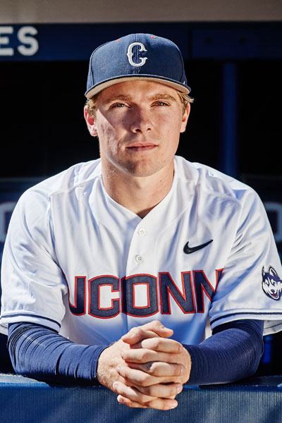 UConn baseball player Willy Yahn