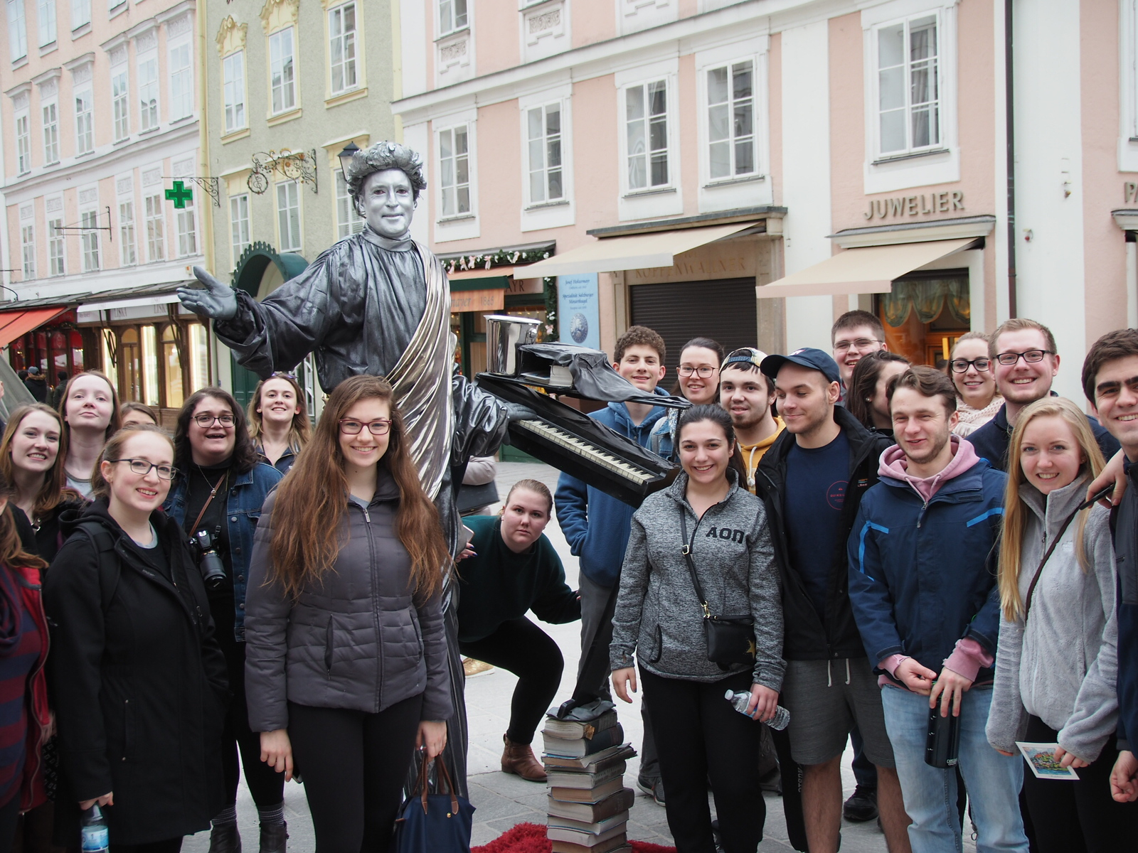UConn Concert Choir in Salzburg plaza