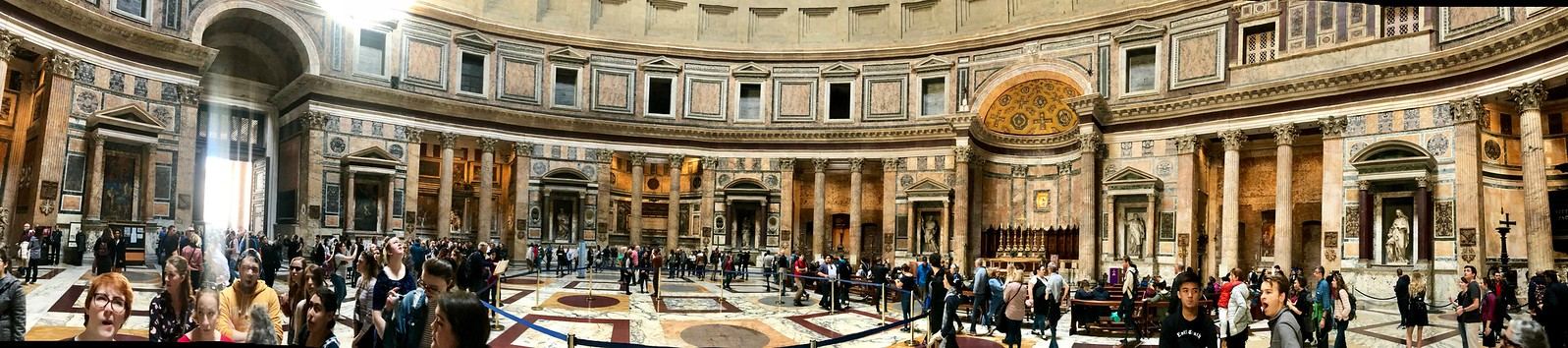 Panoramic image of the Pantheon