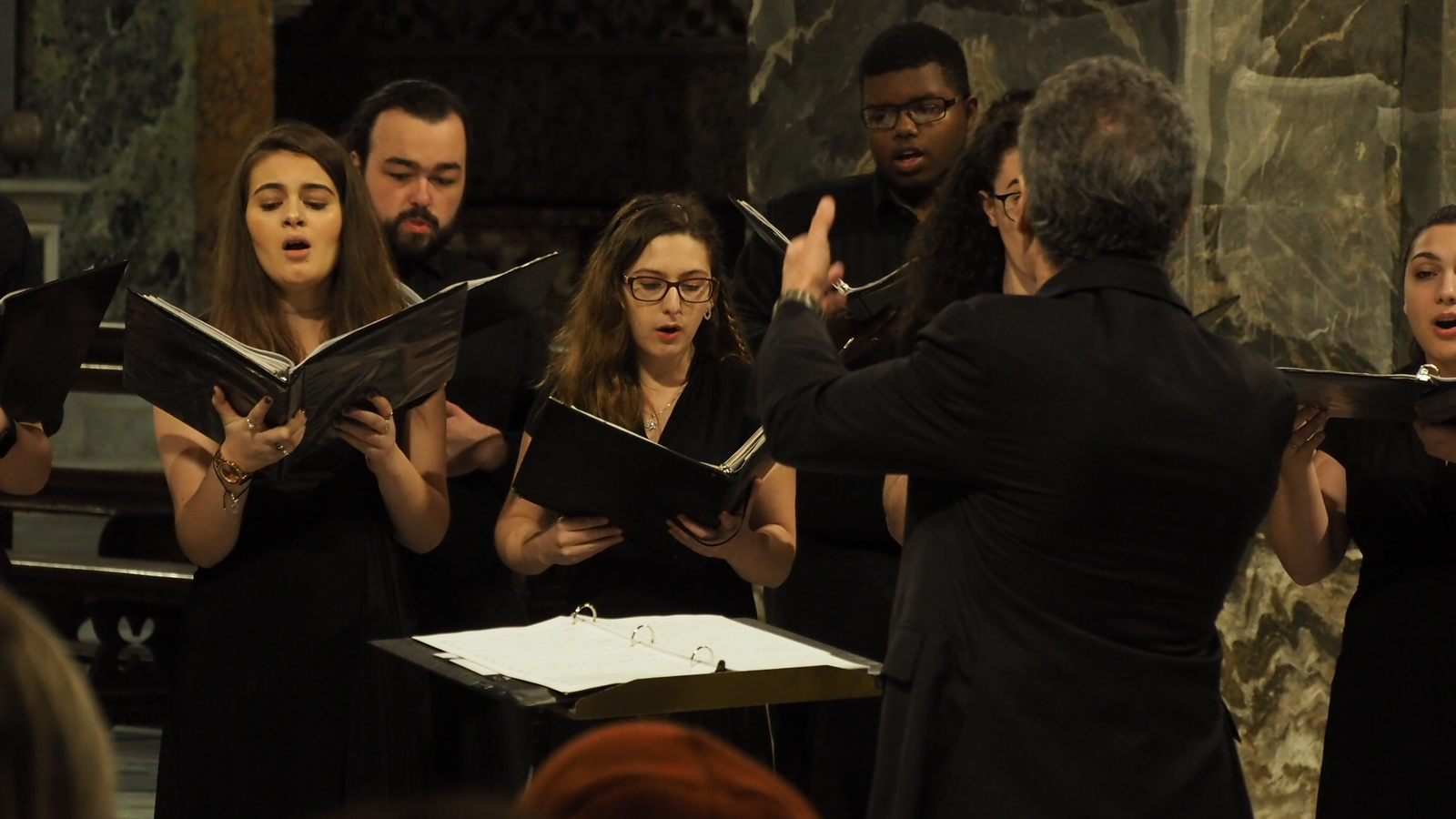 The UConn Collegium Musicum performs in Cheiza Santo Spirito in Florence