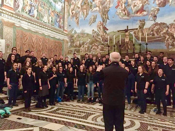 The Concert Choir sings at the Sistine Chapel