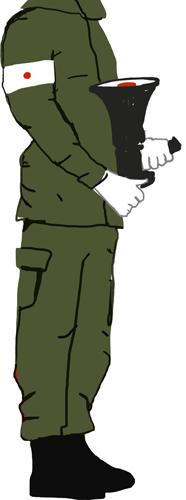 Illustration of headless solider