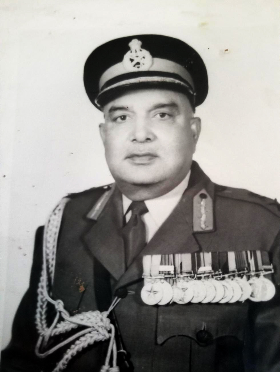 Manisha's father in military garb