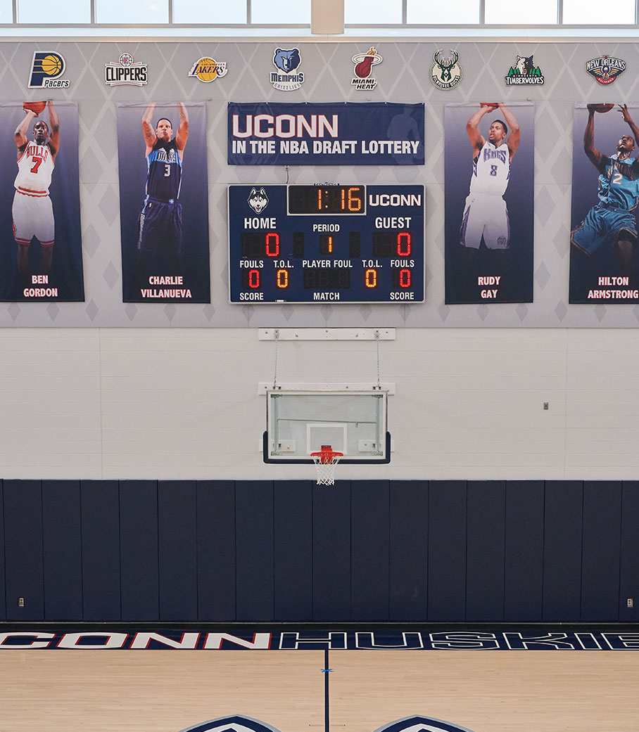 UConn basketball Practice Room