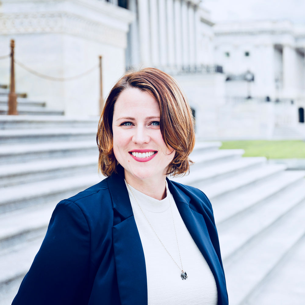 Erin Perrine '10 (CLAS) on Capital Hill in Washington D.C.