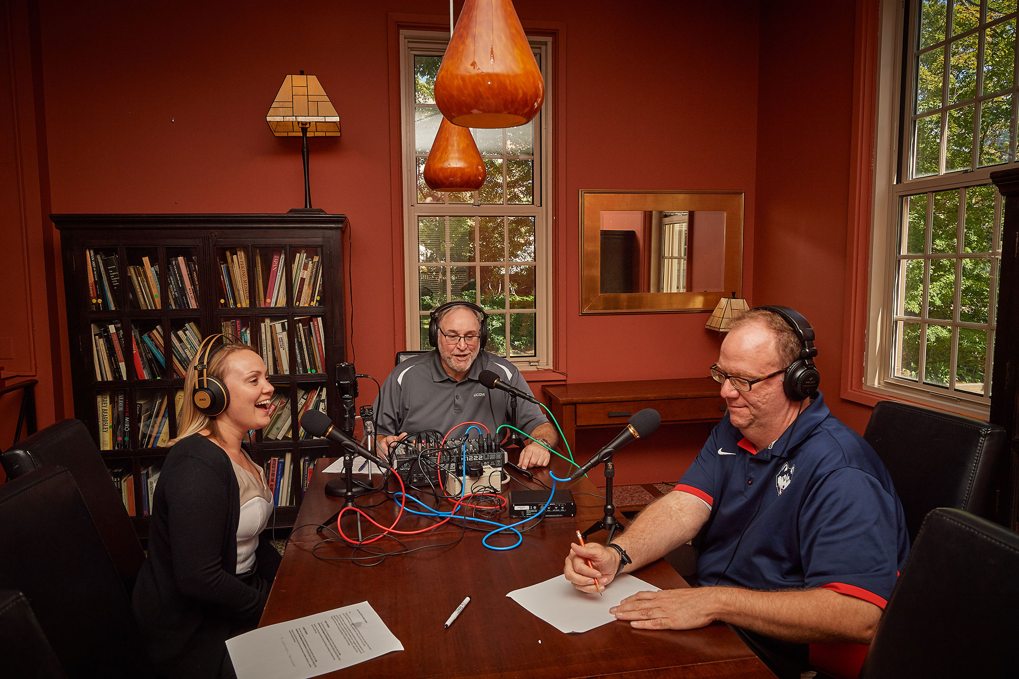 Bartucca, Best, and Breen record episode # 15 of their UConn 360 podcast