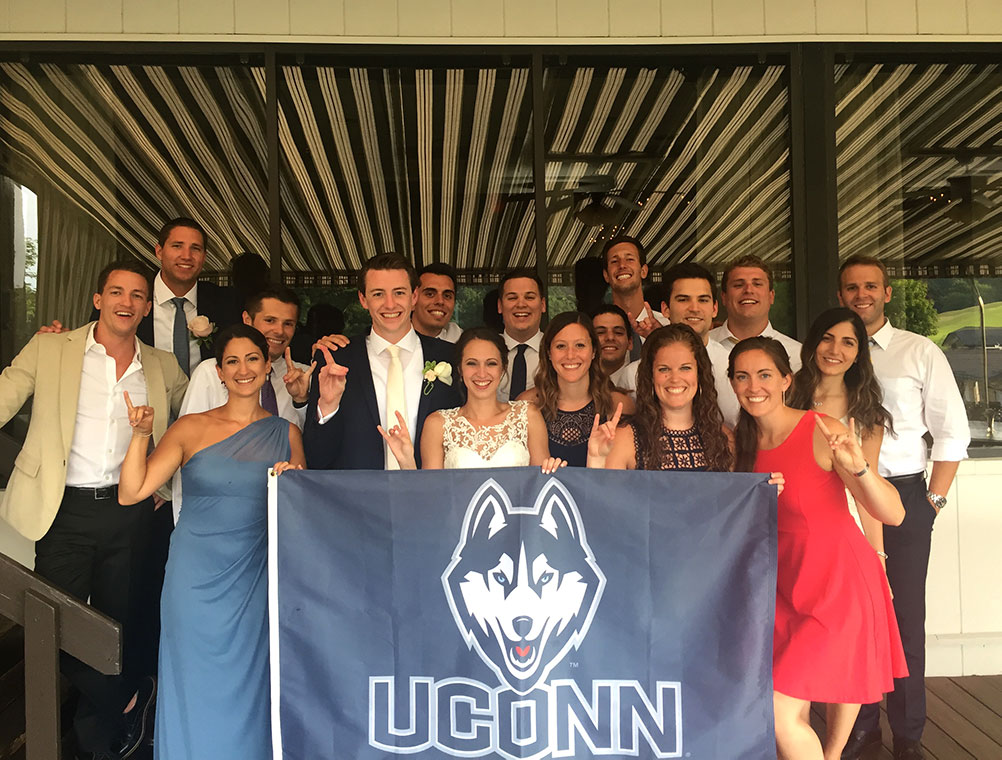 Sean Battle and Nicole Taranto (both '14) with their UConn crew