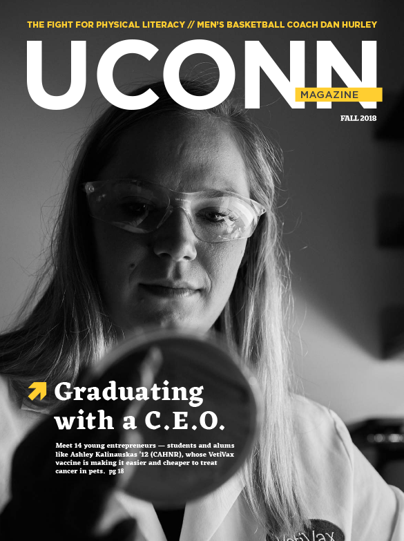 The cover of UConn Magazine's fall 2018 issue