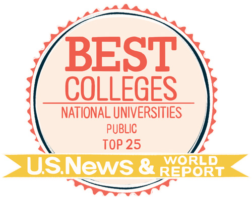Best Colleges National Universities Public Top 25 US News and World Report illustrated by Kailey Whitman
