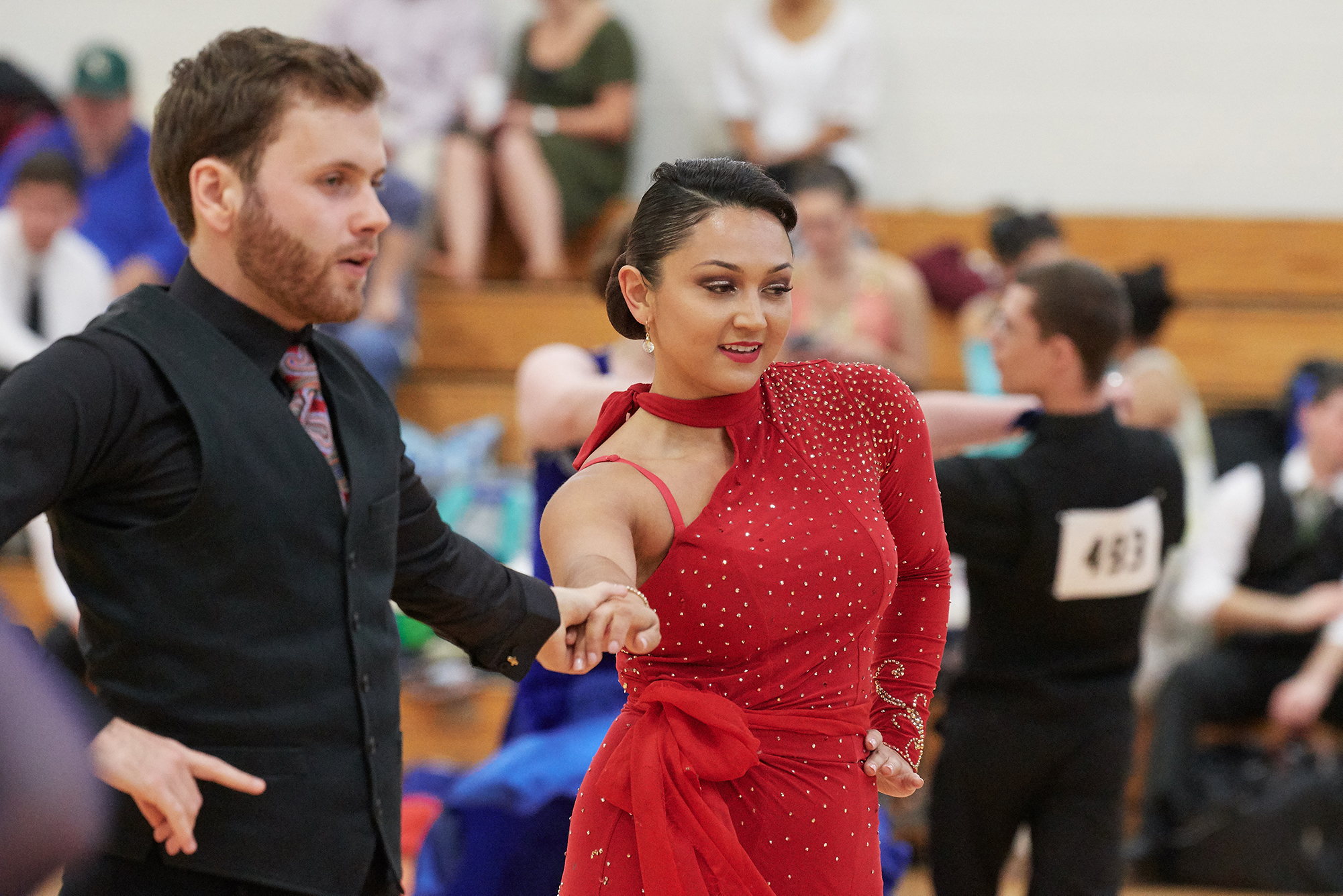 it takes two UConn Ballroom student members to dance this tango