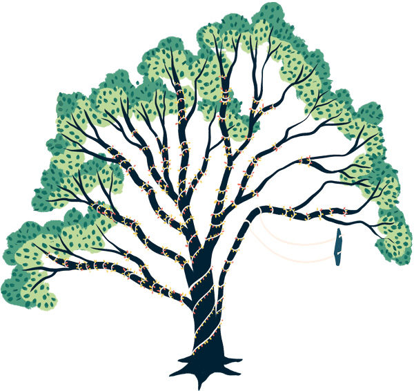 Swing tree illustrated by Kailey Whitman