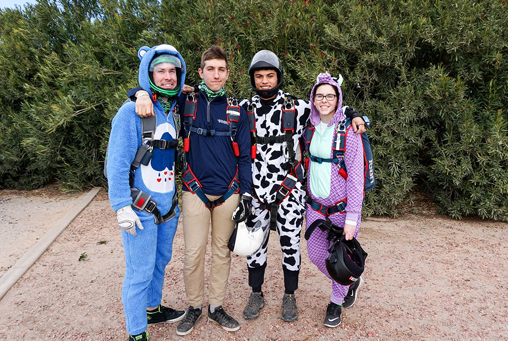 Over the winter break, the UConn Skydiving team went to Skydive Arizona for the USPA National Collegiate Parachuting Championships on Dec. 29, 2016.