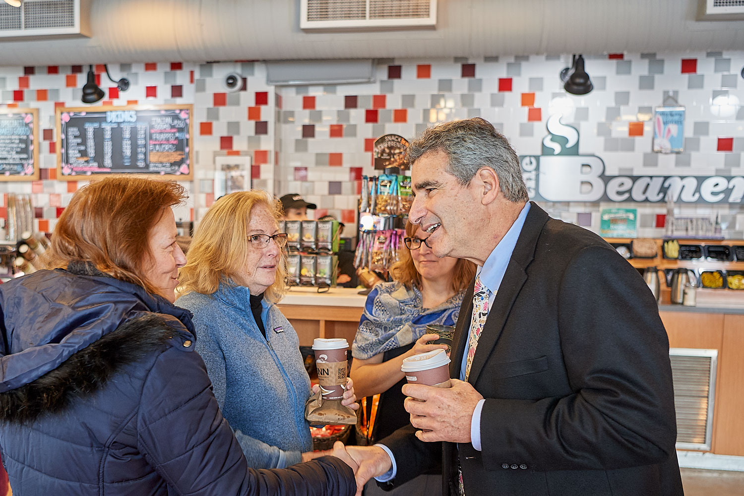 Thomas Katsouleas, president designate,meets faculty staff and students at the Beanery