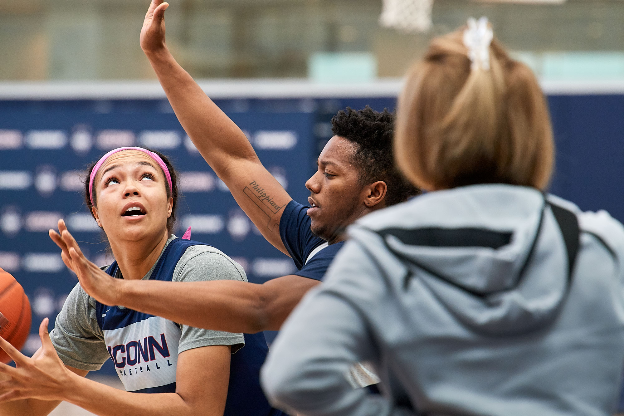 Young at UConn WBB practice