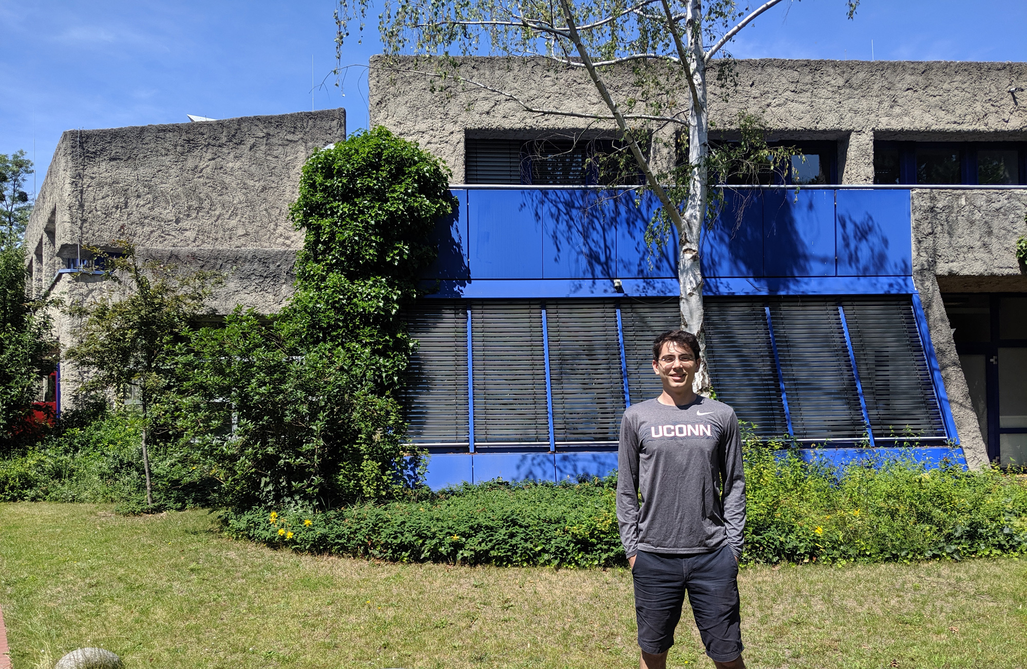 Berk Alpay during his internship this summer with the Fritz Haber Institute of the Max Planck Society in Berlin, Germany.