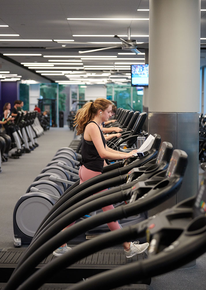 rows and rows of excersizing machines