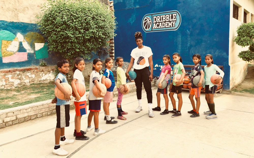 Batouly Camara at the Dribble Academy in India