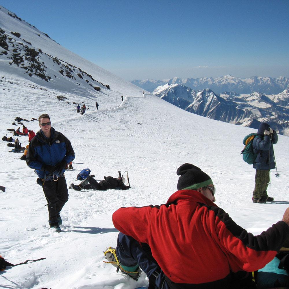Elbrus near summit