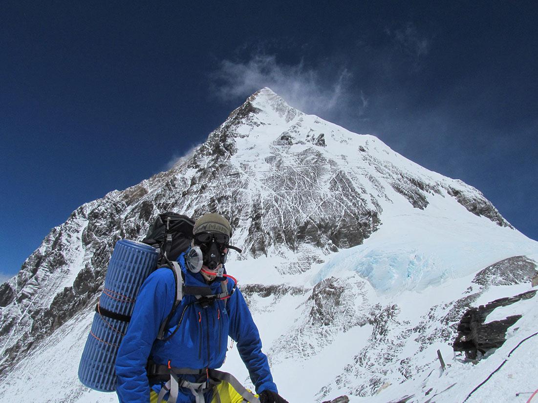 Mark Milewski '96 MA on top of Geneva Spur, Mt. Everest
