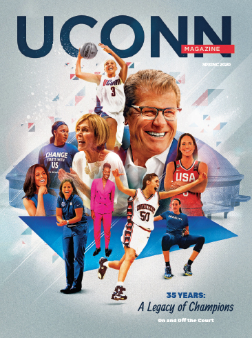 the cover of the UConn Magazine Spring 2020 Issue