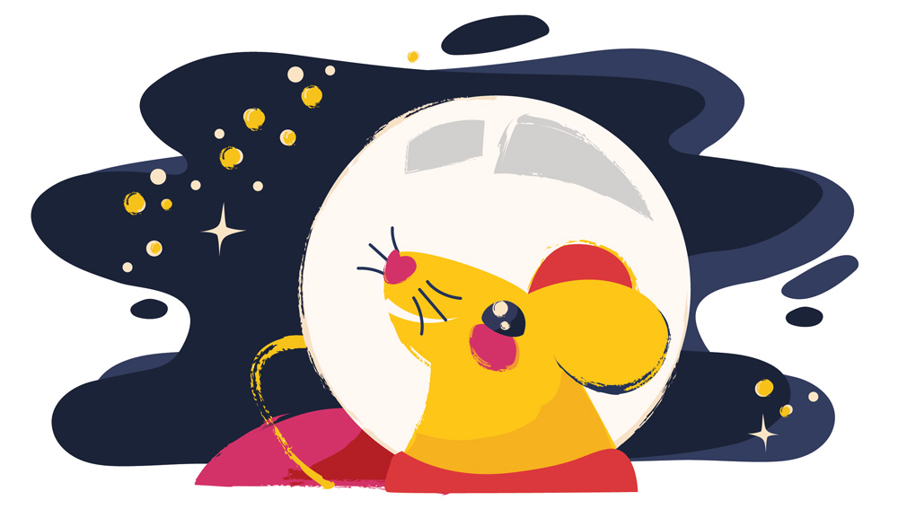 Mouse illustration in space