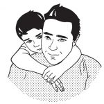 Mike Chase and son illustration
