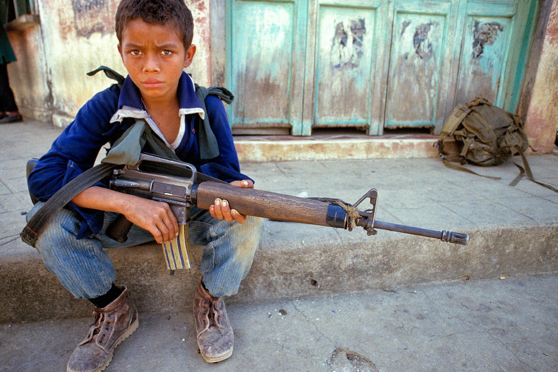 Adolescent guerrilla in Usulután Province, El Salvador, 1989.