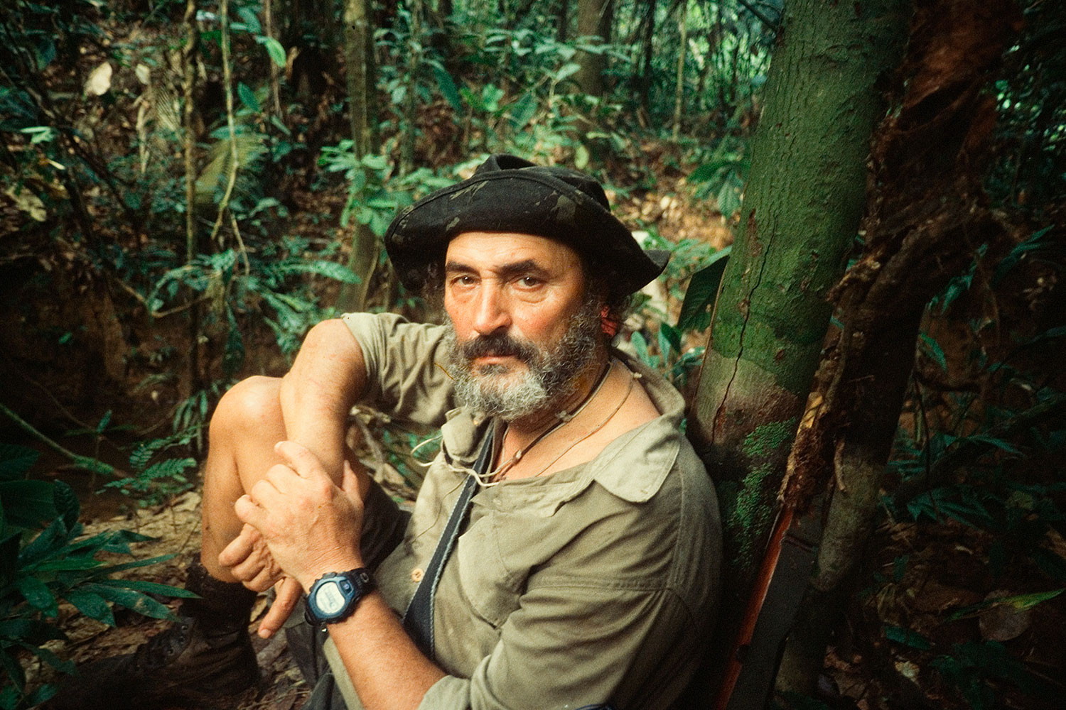 Explorer and indigenous-rights activist Sydney Possuelo on expedition, 2002.