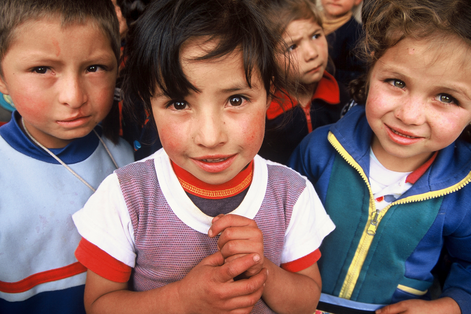 Kindergarten children in Boyacá, Colombia, 2004.