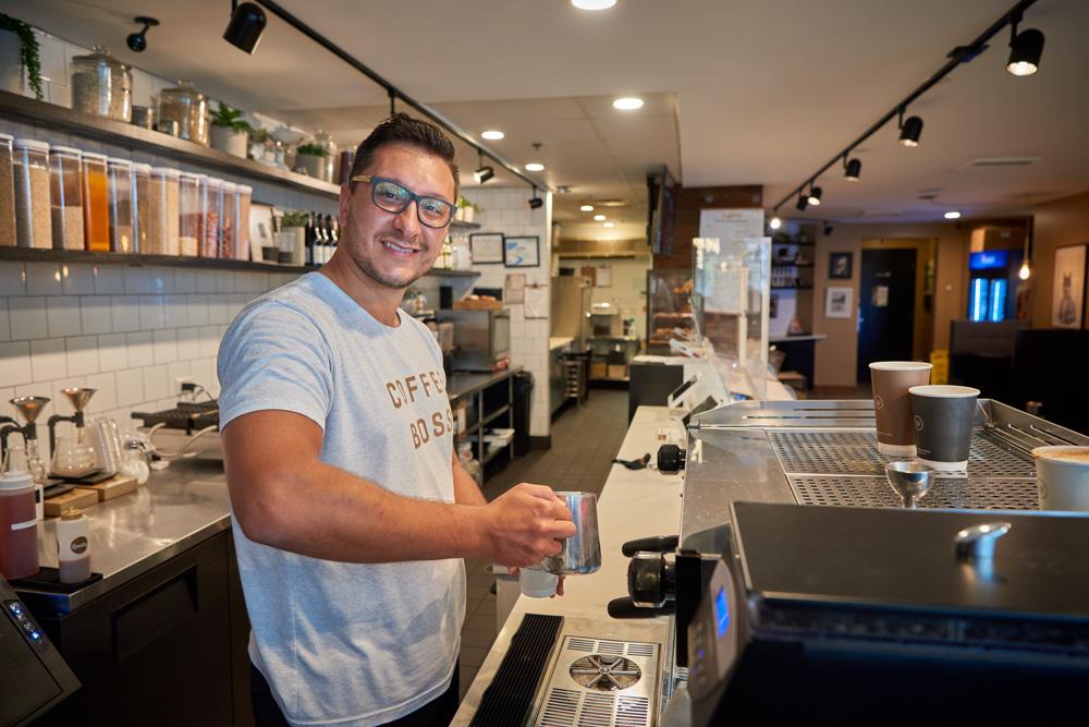 Breno Donatti at Winfield Street Coffee in Stamford