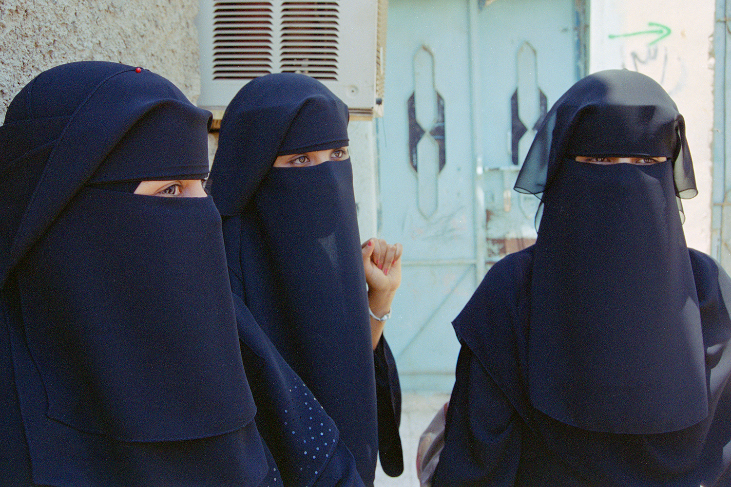 Young businesswomen in Aden, Yemen, 2004.